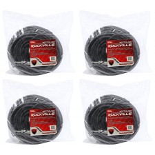 "4 Rockville RCTT12100 100' 12 AWG 1/4"" TS to 1/4"" TS Speaker Cable 100% Copper"