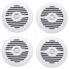 "(4) Rockville MS525W 5.25"" 400 Watt Waterproof Hot Tub Speakers In White"