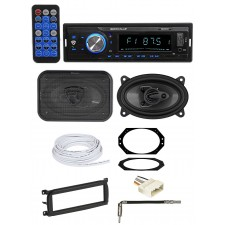 "03-06 JEEP WRANGLER TJ Car Digital Media Receiver+Front 4x6"" Speakers+Wire Kits"