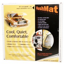 "HushMat door kit with 10 BLACK sheets 12""x12"" (10 square feet)"