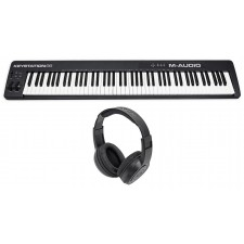 M-Audio Keystation 88 II USB MIDI 88-Key Keyboard Controller MK II + Headphones