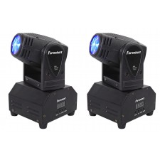 (2) FARENHEIT FH10MH Compact DMX LED Moving Head Beam Club Stage Party Lights