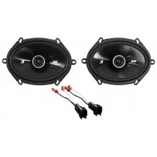 """2007 Ford Mustang Kicker 6x8"""" Front Factory Speaker Replacement Kit w/Harness"""