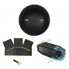 "Polk Audio MM1042DVC 10"" 1200 Watt Car Audio Subwoofer Sub+Rockmat+Free Speaker"
