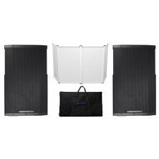 "(2) Cerwin Vega CVE-12 1000 Watt 12"" Powered DJ Speakers w/Bluetooth, DSP+Facade"