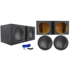 "(2) MTX 9515-22 15"" 3000 Watt RMS Car Audio Subwoofers+Vented Sub Box Enclosure"