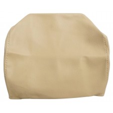 """Pair Beige/Tan 7"""" Anti-Theft Faux Leather Headrest Monitor Cover"""