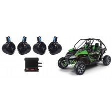"""Arctic Wildcat (4) 8"""" Rollbar Roll Cage Tower Speakers+MTX 4-Channel Amplifier"""