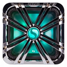 """Kicker 11L710GLCR 10"""" Chrome Grille w/LED For SoloBaric 11S10L7 Subwoofer Sub"""