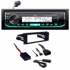 1998-2013 Harley Davidson JVC Digital Media Receiver w/Bluetooth+Install Kit