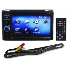 "Boss BV9356 6.2"" Double DIN Car Monitor DVD/USB/SD Player Radio Receiver+Camera"