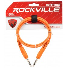 12 Rockville 3' 1/4'' TRS to 1/4'' TRS Cable 100% Copper (6 Colors x 2 of Each)
