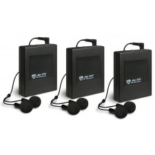 3 Nady ALD-800 RX BB Wireless Receivers + Ear Buds