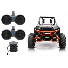 "2) Rockville DWB65S Dual 6.5"" Tower Speakers for Polaris RZR/Jeep/ATV/UTV/Cart"