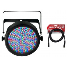 Chauvet SlimPAR 64 Compact DMX LED Wash Light + FREE 10FT Cable