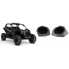 """6.5"""" Speaker Pod Enclosures Front Kick Panels for Can-Am Maverick X3 All-Years"""