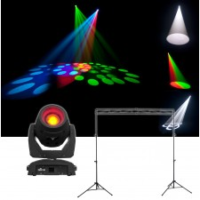Chauvet DJ Intimidator Beam 355 IRC Moving Head Beam Wash Light+Stands+Truss