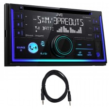 JVC KW-R930BTS 2-Din In-Dash Car Bluetooth CD Receiver iPhone/Sirius+AUX Cable