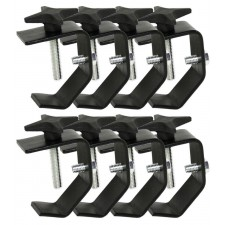 (8) Chauvet CLP-02 Truss Lighting Clamps For Light Mounting Up to 55 LBS CLP02
