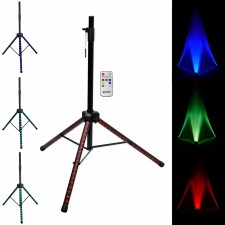Gemini STL-100 Tripod DJ Karaoke Speaker Stand w/Customizable LED's + Remote