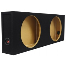 """Rockville Shallow Box Enclosure For (2) Rockford Fosgate P3SD2-12 12"""" Subwoofers"""