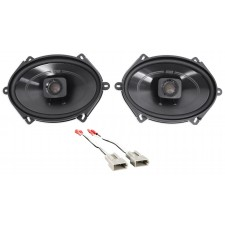 """1997-1998 Ford F-150 Polk 5x7"""" Front Factory Speaker Replacement Kit+Harness"""