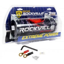Rockville RDA0+4K 0+4 Gauge Dual Amplifier Installation Kit+2 Farad Capacitor