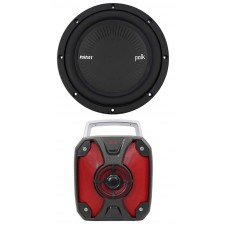 "Polk Audio MM842SVC 8"" 900 Watt SVC 4-Ohm Car/Marine Audio Subwoofer Sub+Rockbox"