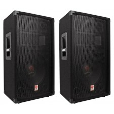 "(2) Rockville RSG12.4 12"" 3-Way 1000 Watt 4-Ohm Passive DJ/Pro Audio PA Speakers"