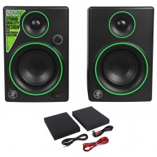 """Pair Mackie CR3 3"""" Gaming Twitch Streaming Computer Speakers Monitors"""