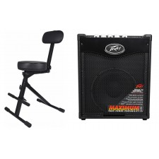 """Peavey Max 110 100w Electric Bass Guitar Amplifier Combo Amp, 10"""" Speaker+Throne"""