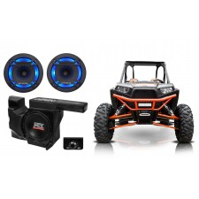 "MTX RZRXP-10 Powered 10"" 500w Subwoofer+Enclosure+LED Speakers 4 Polaris RZR/UTV"