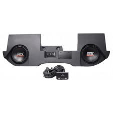 "Dual 10"" MTX Powered Subwoofers+Enclosure Box For 02-16 Dodge Ram Quad/Crew Cab"