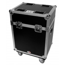 Flight Case w/ Wheels For (2) Martin Rush MH 4Beam Moving Head Lights