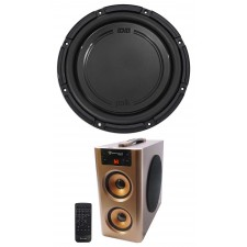 "Polk Audio DB1242SVC 12"" 1110w Single 4-Ohm Car/Marine Audio Subwoofer + Speaker"