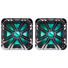 """(2) Kicker 11L710GLCR 10"""" Chrome LED Grilles 4 SoloBaric 11S10L7 Subwoofers Subs"""