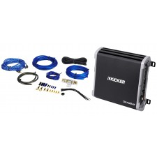 Kicker 43DXA1252 DXA125.2 D-Series 2-Ch. 60Wx2 Full-Range Car Amplifier+Amp Kit