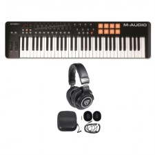 M-Audio Oxygen 61 MK IV 61-Key USB MIDI Keyboard Controller + Studio Headphones