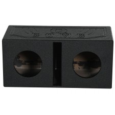 "Rockville RQB8 Dual 8"" Vented Subwoofer Sub Box Enclosure Finished w/Bed Liner"