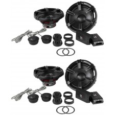 """2) Pairs MB Quart DC1-216 6.5"""" 180w 2-Way Component Car Speakers+Tweeters+Xovers"""