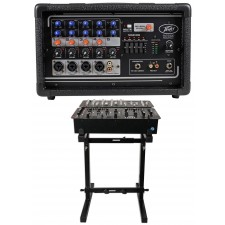 Peavey PV5300 200 Watt 5-Ch Powered Live Sound Mixer w/ 5-Band EQ PV 5300+Stand