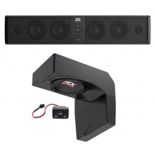"10"" Powered Under-Seat Subwoofer+6-Speaker Soundbar for 2014-17 Polaris Ranger"