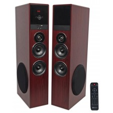 "Rockville TM80C Cherry Powered Home Theater Tower Speakers 8"" Sub/Blueooth/USB"