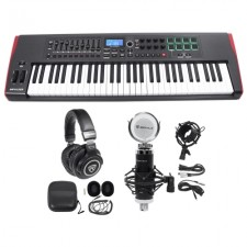 Novation IMPULSE 61-Key Ableton Live Keyboard Controller+ (2) Speaker+Mic