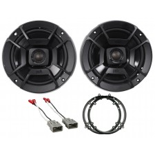 2003-2007 Honda Accord Front Polk Audio Speaker Replacement Kit+Harness