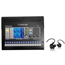PRESONUS EarMix 16M 16x2 Personal Monitor Mixer+Mackie MP-240 In-Ear Monitors
