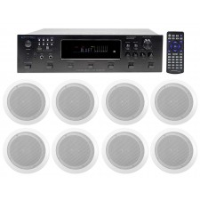 """Technical Pro 6000w (6) Zone, Home Theater Bluetooth Receiver+(8) 6.5"""" Speakers"""