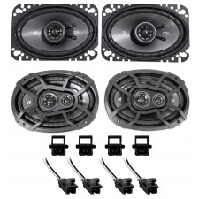 1994-1996 Chevrolet Chevy Impala SS Kicker Front+Rear Speaker Replacement Kit