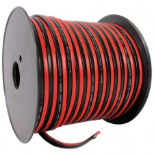 Rockville R14GSBR200 Red/Black 14 Gauge 200' Ft. Spool Car Audio Speaker Wire