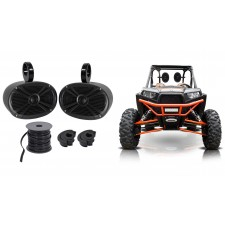 "(2) Rockville 6x9"" Black Rollbar Speakers For Polairs/JEEP/ATV/UTV/RZR/CART"